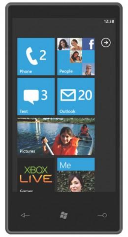 Windows 7 Mobile Home Screen