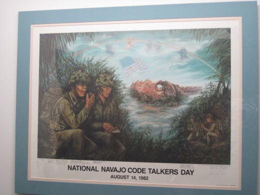 National Navajo Code Talkers Commemorative Poster at Arizona Military Museum