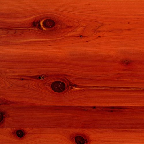 Close up of cedar wood, one of the most popular dark woods used on writing desks.