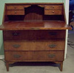 Rosewood writing desk.