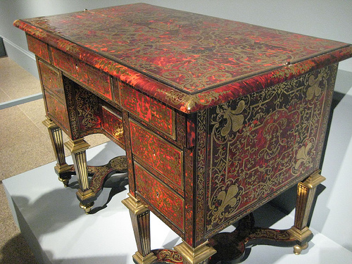A well crafted contemporary writing desk with some older influences.