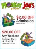 image about Monkey Joes Coupons Printable identify Coupon codes monkey joes - Samurai blue coupon