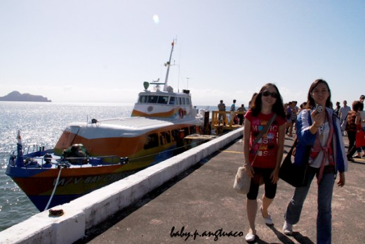 Pier of Corregidor. Also shown is the boat we rode