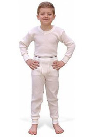 Boy in thermal underwear