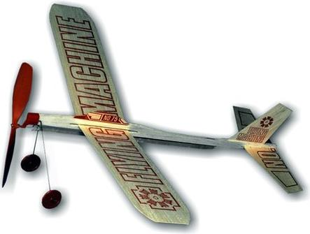 A balsa wood plane design