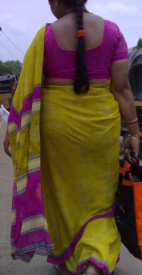 Indian Aunty Back