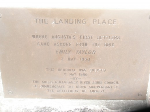 Your ancestors' landing plaque.