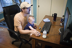 Modern Daddy with Baby (Flickr)