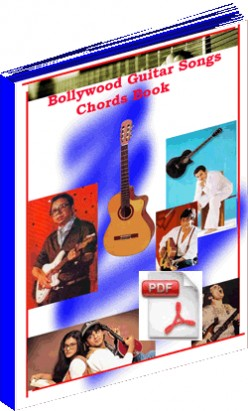 Bollywood Hindi Song Guitar Chords and Tabs Book with Video Lessons @ www.indian-guitar-chords-tabs.org