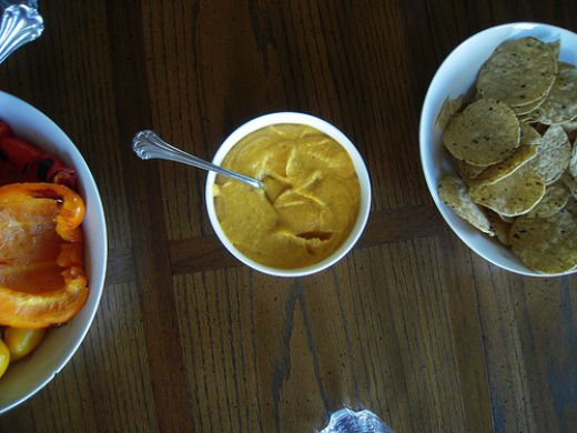 Curried mango hummus.