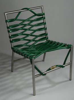 A Very Comfortable Chair Made From A Garden Hose