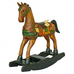 Expensive Wooden Work – Antique Style Rocking Horse