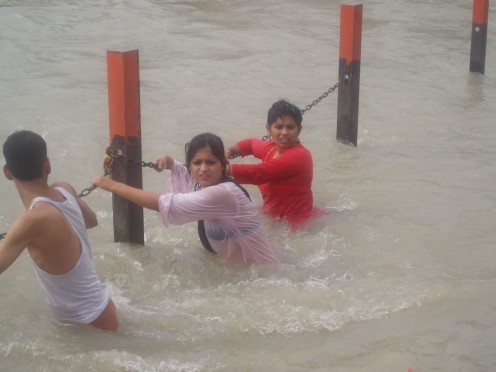 Wet Aunties from the Bathing Ghats