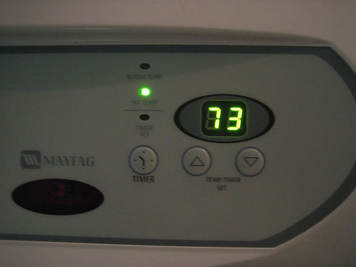 One person's ideal AC temperature.