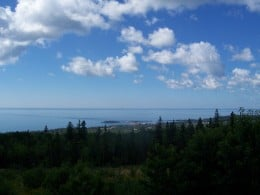 A beautiful view of the summer sky by Grand Marais MN