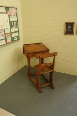 A Victorian desk for the children who didn't behave so well in class.