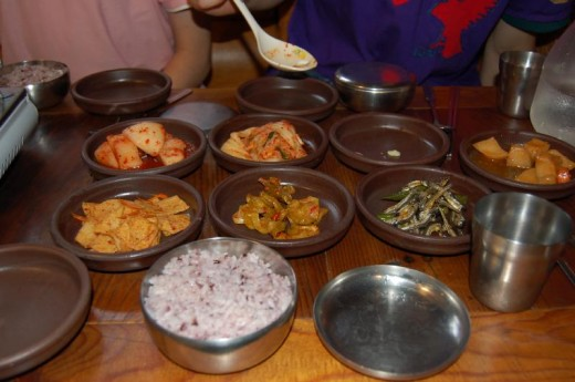 GIMCHI & other KOREAN DISHES (courtesy of http://www.habeeb.com/)