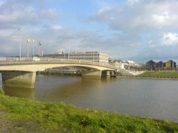Bridge over river Loire in Nantes