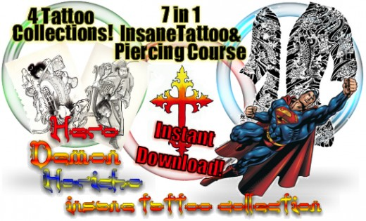 Insane Tattoo & Body Piercing Course. Insane Body Piercing Kit