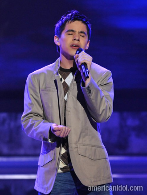 "David Archuleta, singing his heart out on ""Smokey Mountain Memories""."