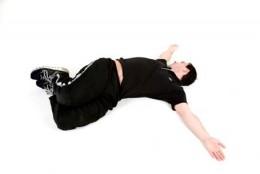 A back stretch good for sciatia pain.