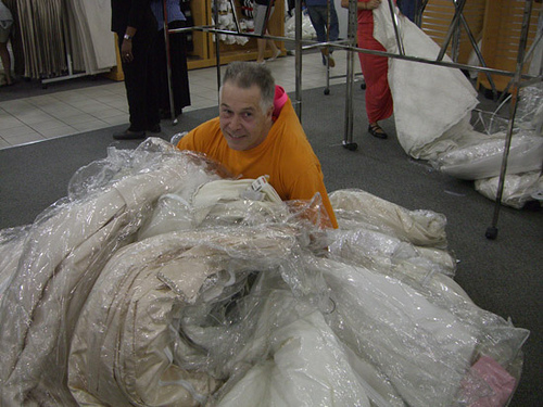 Even dads hoard wedding dresses!