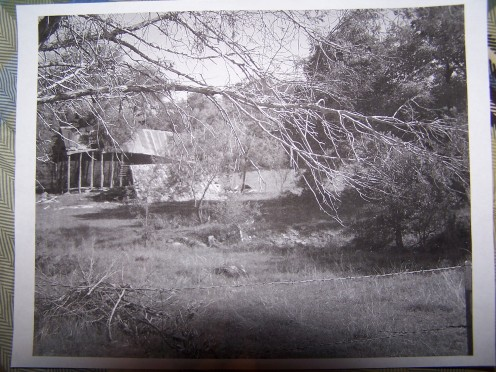 Photograph of the old barn, printed out in black and white on regular copy paper. This way it shows me the different color values and shades.