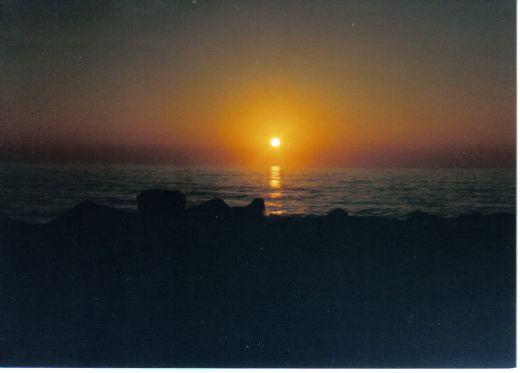The sun . . .