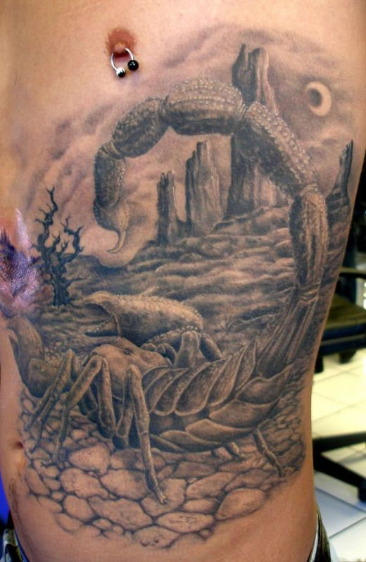 OMG another guy with a scorpion tattoo, damn cracking tattoo but jeeez he's