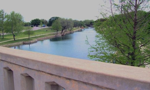 Sulphur Creek from the Hwy 183/281 Bridge in Lampasas TX