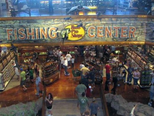 Photo of the interior of a Bass Pro Shops