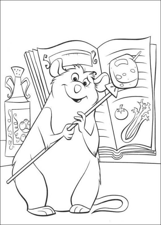 Remy Rat Chef Ratatouille Free-Kids Coloring Pages Colouring Pictures to Print