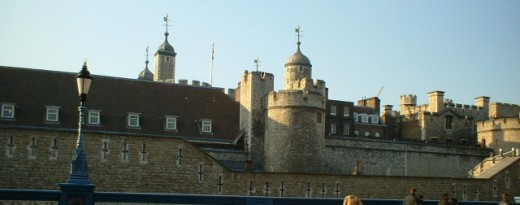 The Battlements, as seen from Tower Bridge approach