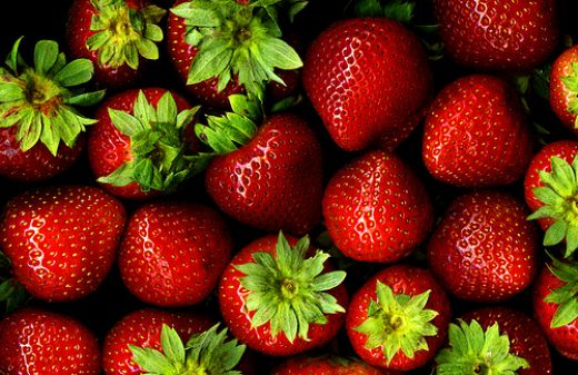 Strawberries have one of the highest levels of chemical residues of any fruit. Photo by *clairity*