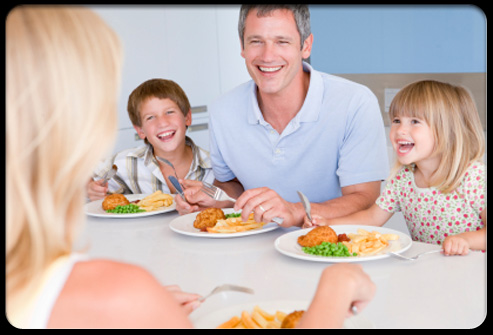 Role modeling for your children is good so that they will be encouraged to eat healthy foods