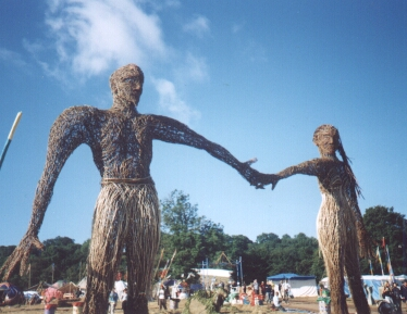 Wicker man and woman. Photo by Steve Andrews
