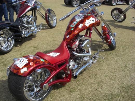 Custom bikes at Daytona beach bike week 2010
