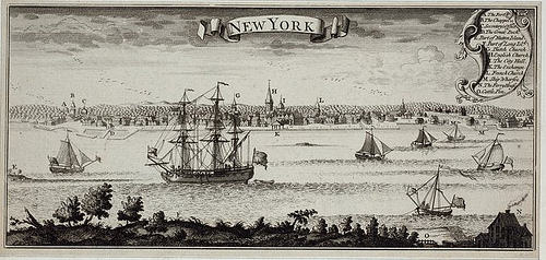 New York Harbour around 1770