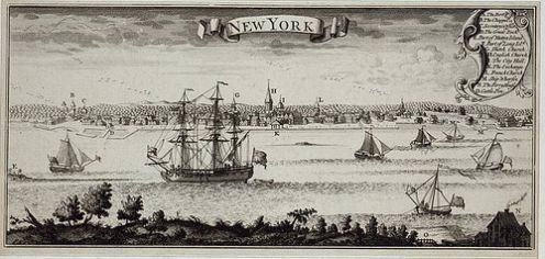 New York Harbour around 1770