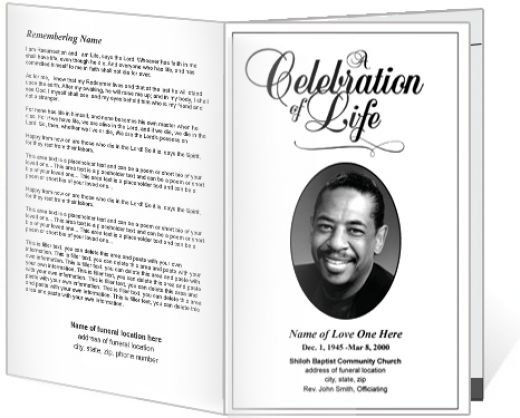 Memorial Service Program Template – Funeral Program Example