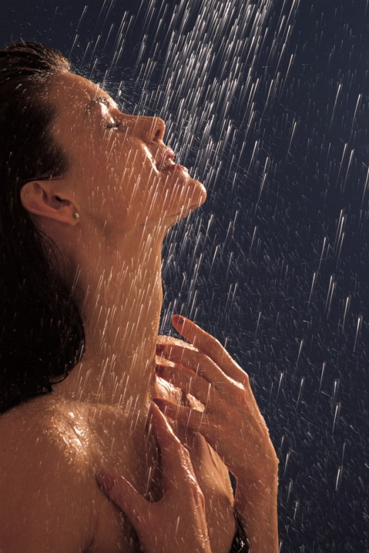 Enjoying filtered shower