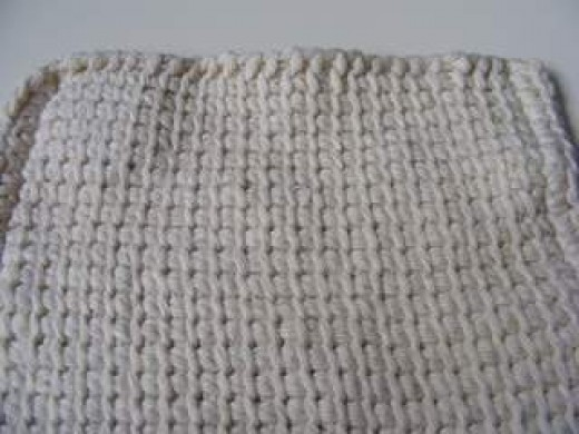 Dishcloth - Using Tunisian Simple Stitch