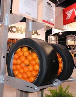 Oranges in tires