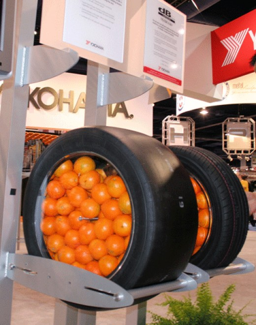 Oranges in tires