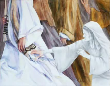 Miracle by touching Jesus' hem (Matt.9:20) Other instances    Matt 14:34-36;   Mark 6:53-56
