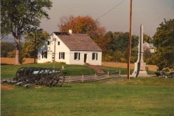 Antietam Battlefield (1862) in Maryland.  It was during the Civil War that Americans paid income tax for the first time.