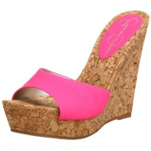 Pink platform sandals from the Jessica Simpson range