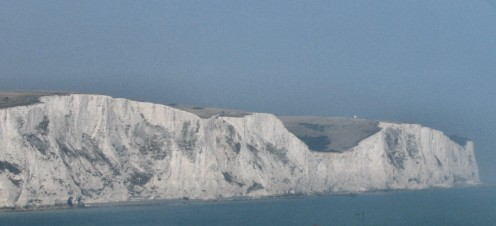 White Cliffs of Dover. Craggy & White. Copyright Tricia Mason. 2008.