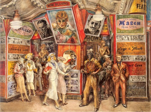 """TWENTY CENT MOVIE"" BY REGINALD MARSH (1936)"