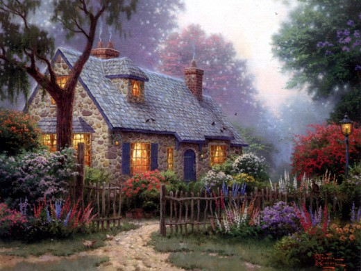 """MASTERWORKS OF LIGHT"" BY THOMAS KINKADE (2000)"